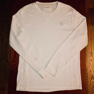 EXPRESS Mens lightweight thermal; white Sz Large